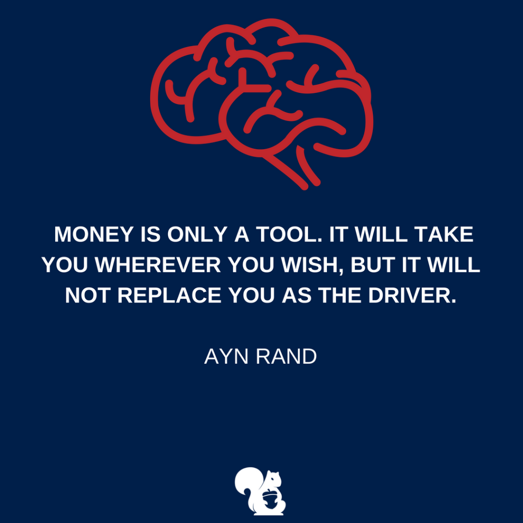sqrrl.in Money is only a tool. It will take you wherever you wish, but it will not replace you as the driver. - Ayn Rand