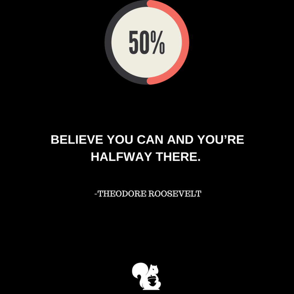 sqrrl.in Believe you can and you're halfway there. - Theodore Roosevelt