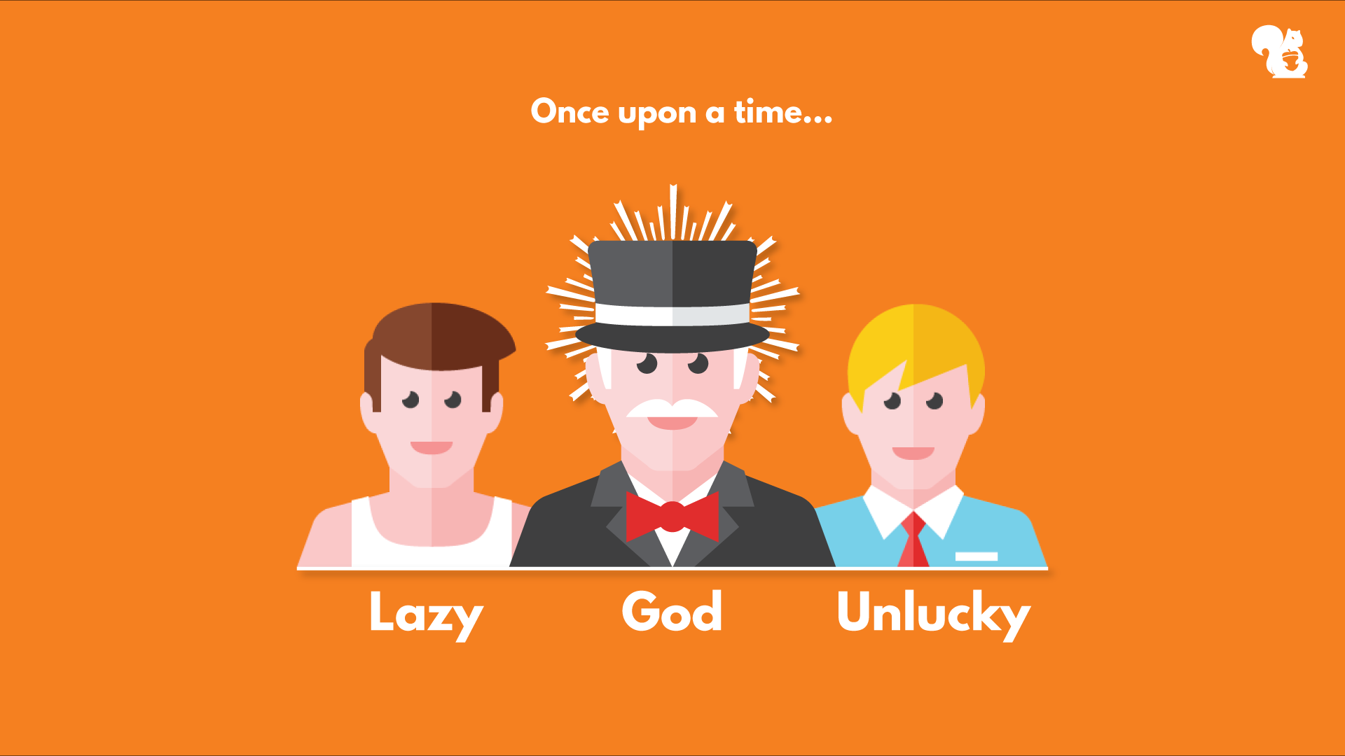 once upon a time, god, a lazy guy and an unlucky guy started investing