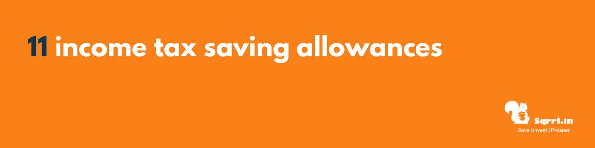 11 income tax saving allowances