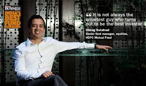 HDFC Hybrid Equity fund manager Chirag Setalvad