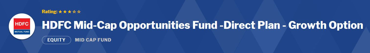 Mid-Small Cap Funds: HDFC Mid-Cap Opportunities Fund - Growth
