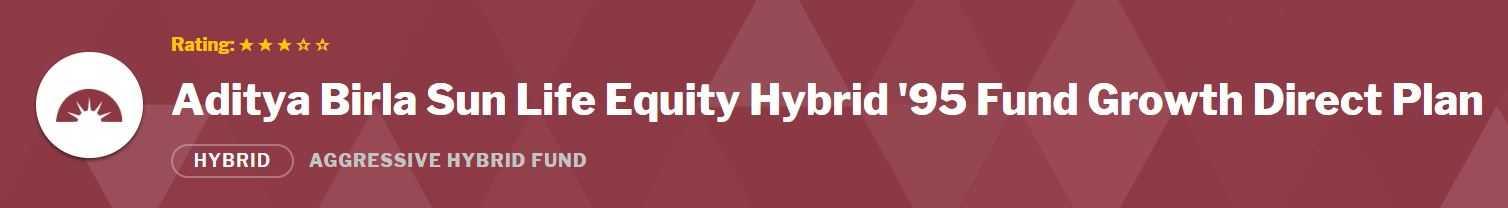 Aditya Birla Sun Life Equity Hybrid '95 Fund