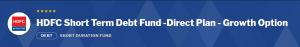 Debt Mutual Funds:HDFC Short Term Debt Fund