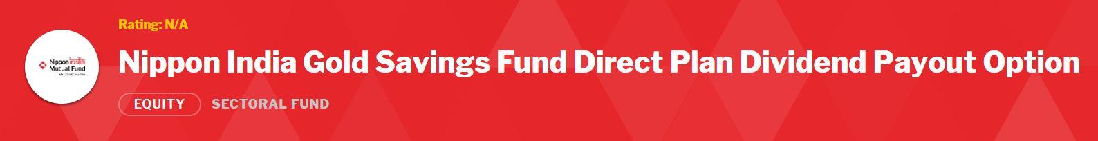 Nippon India gold mutual fund