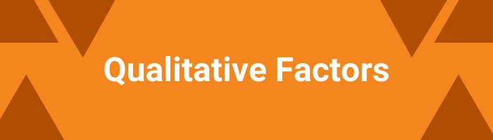Qualitative factors - SIP recommendation
