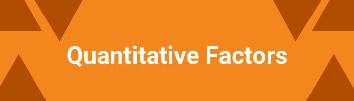 Quantitative factors - SIP Recommendations